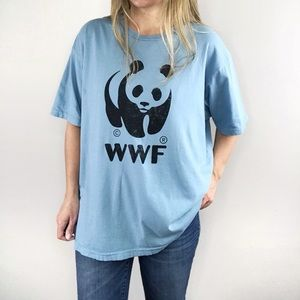 CHASER ORGANIC WWF Panda blue graphic tee sz XL